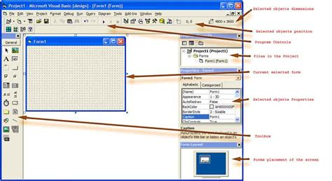 visual basic diagram general visual basic interface