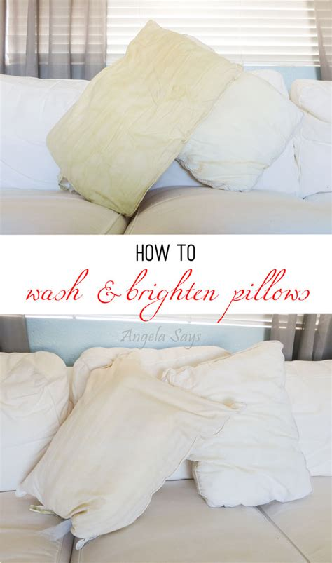 How Do You Wash A Pillow by How To Wash And Brighten Pillows Angela Says