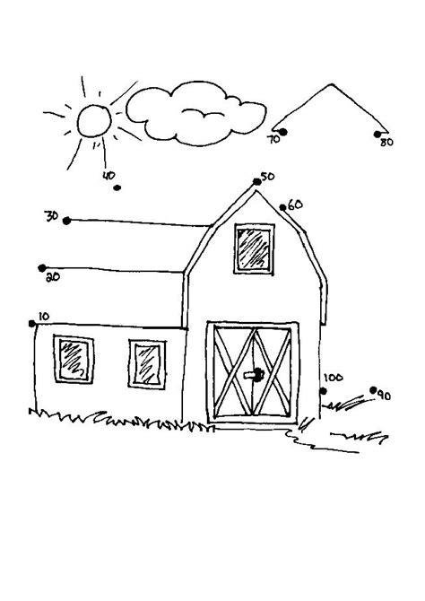 printable dot to dot tractor 9 images of farm tractor and barn coloring pages farm