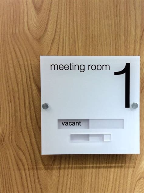 acrylic and stainless steel meeting room and conference room signs