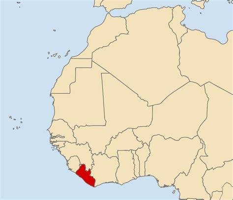 africa map liberia liberia kapital karte