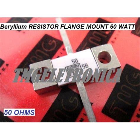 resistor flange 50 ohm resistor de berilio resistor para rf 50r 50 ohms 60watts resistor