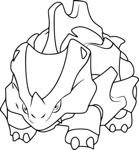 pokemon coloring pages rhyhorn coloriage rhinocorne pokemon 224 imprimer sur coloriages info