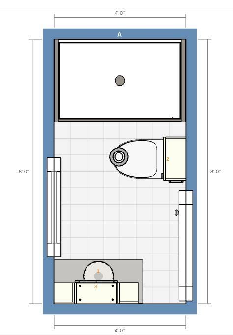 bathroom  stall shower  floor plan bathrooms