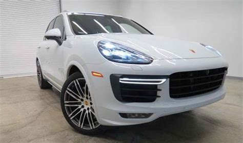 porsche white 2017 carrara white metallic 2017 porsche cayenne turbo for sale