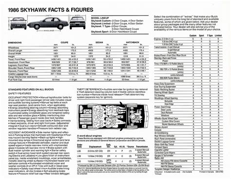1986 buick skyhawk brochure cdn 1986 buick skyhawk brochure cdn