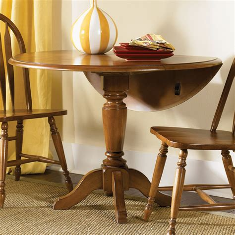 liberty furniture low country drop leaf pedestal dining