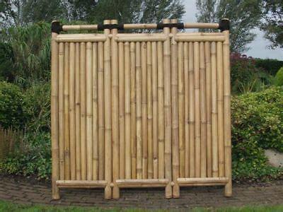 sichtschutz garten bambuszaun zaunserie barletta designelement 150 180 x 60 cm zaun