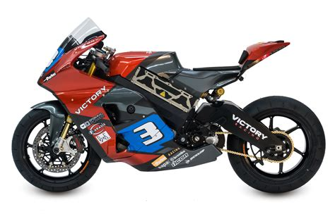 electric motorcycle victory electric prototype race motorcycle