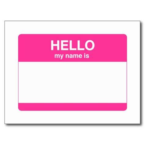 hello my name is template 7 best images of hello my name is tags printable hello