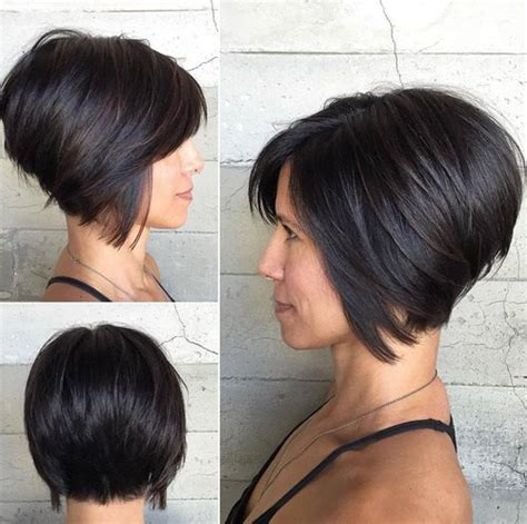short hair at back longer on top short hairstyles long in front short in back hair style