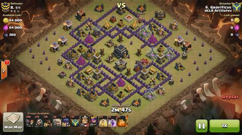 Clash Of Clans Th9 Vs Th9 Golem Wizard Witch Gowiwi Clan War | clash of clans th9 vs th9 golem wizard witch gowiwi