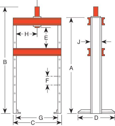 10 ton frame floor h frame 10 ton bench floor presses hydraulic