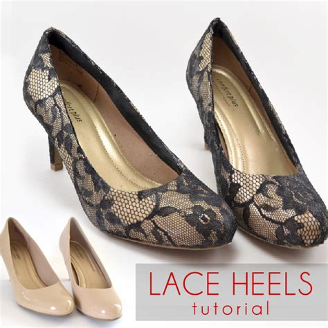 diy lace shoes shoe makeover lace heels tutorial spark