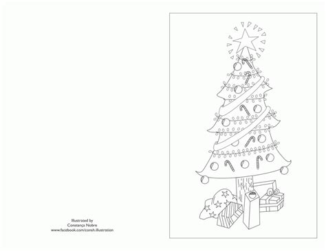 Christmas Card Coloring Pages Free Coloring Home Card Coloring