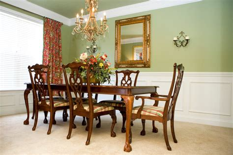 Houzz Green Dining Room Dining Room In And Green Traditional