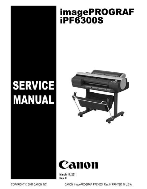 canon service canon ipf6300s service manual