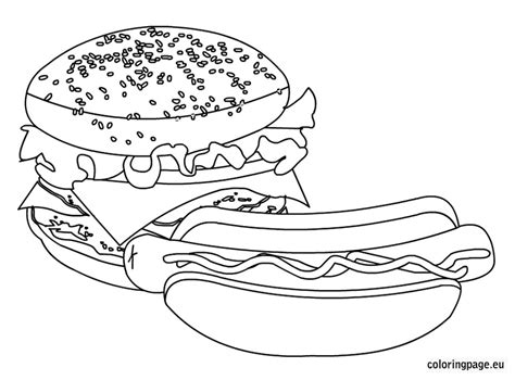 coloring pages of food and drinks foods and drinks coloring page