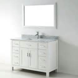 single bathroom vanity white 48 inch white single sink vanity set