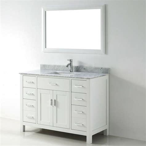 Chloe 48 Inch White Carrera Single Sink Vanity Set