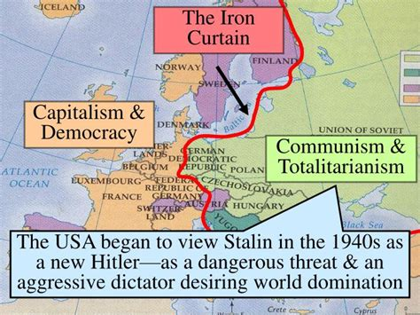 the iron curtain divided the world into ppt essential question what factors intensified the