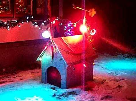 christmas dog house snoopy s dog house at christmas youtube