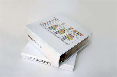 resistor storage binder 9 helpful but random shop tips cnccookbook cnccookbook