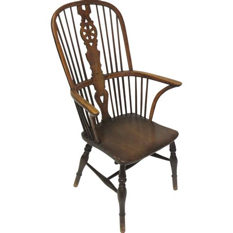 windsor armchairs english high back windsor arm chair from blacktulip on ruby lane