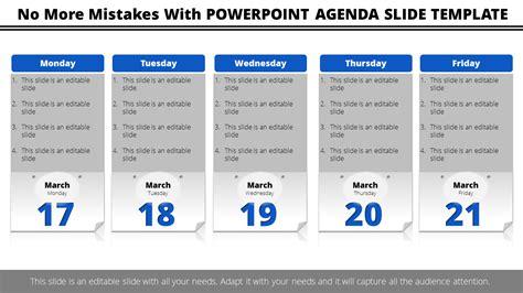 powerpoint agenda  template column model slideegg