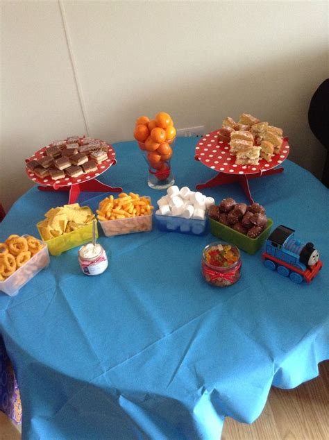 Snack Table Ideas by Snack Table Tank Engine Birthday Boy Snack Tables Engine And