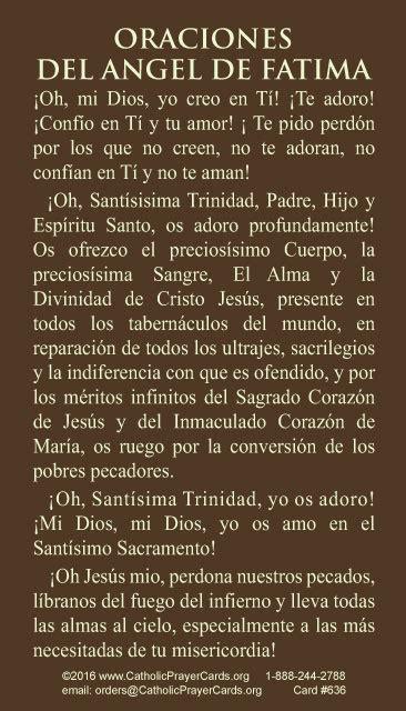 spanish fatima reparation prayer card