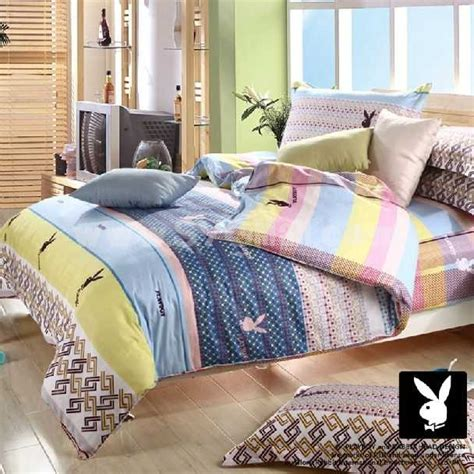playboy bedroom set playboy 4 piece stripes bedding set sygmall