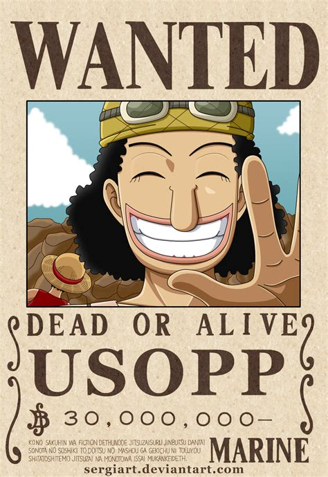 One Styling Gold 1 Usopp one usopp wanted poster by sergiart on deviantart