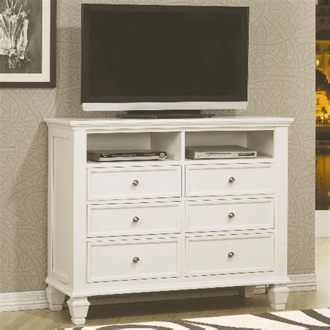 chest sandy beach white bedroom collection beautiful coaster furniture 201306 sandy beach media chest in white