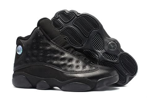 are all jordans basketball shoes 2017 air 13 retro all black leather mens basketball