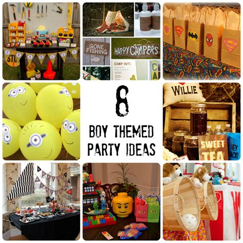 party themes guys boy themed birthday party ideas