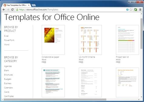 How To Use Microsoft Office Online Templates Using A Browser Template Microsoft Office