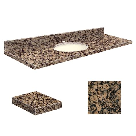 granite bathroom vanity top shop transolid baltic brown granite undermount single sink