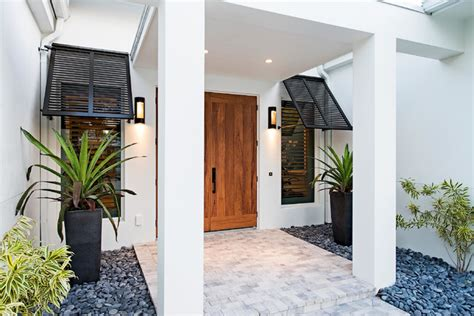 Entryway Decor Ideas naples beach coastal retreat front door tropical entry