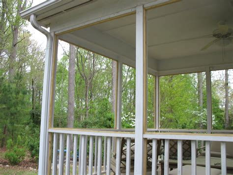 Replacing Screen On Porch raleigh nc screened porch replacement with removable panel