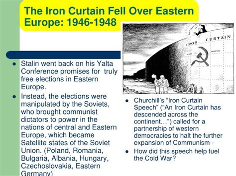 iron curtain 1948 ppt the cold war powerpoint presentation id 5994204