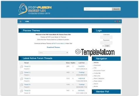 free phpfusion themes templates page 4 gt gt 24 nice php