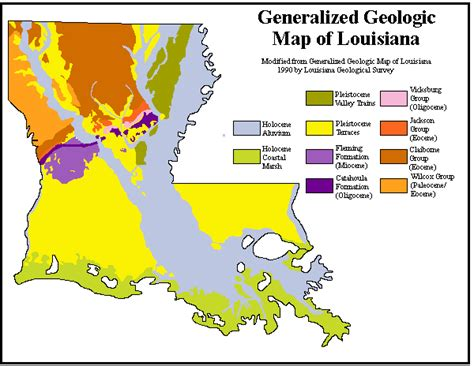 louisiana geologic map arizona geology exemption period for geologist licensure