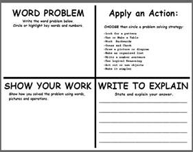 Math Journal Template by Teachingisagift Problem Solving Template