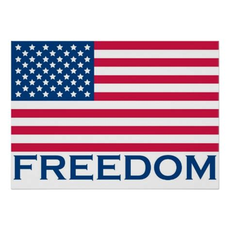 printable flag poster freedom poster united states of america flag print zazzle