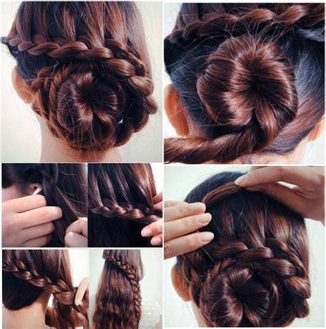 hair braiding styles long hair hang back low braid bun hairstyles how to