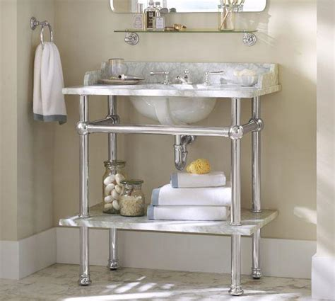 apothecary bathroom apothecary single sink console pottery barn
