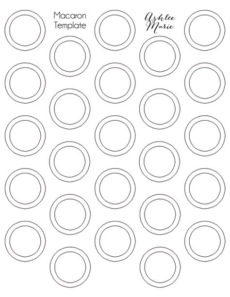french macaron piping template