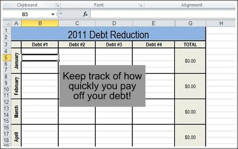 Debt Budget Spreadsheet by Track Your Finances Andrea Dekker