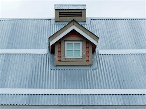 Dormer Window Architecture Metal Roof Small Dormer Window Architecture Detail Stock